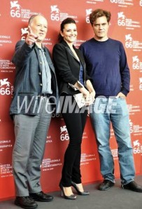 Giulia Marletta photo with Herzog and Michael Shannon - Press conference